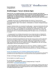Värdebarometern 2017 Tanums kommun
