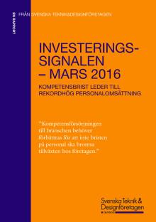 Investeringssignalen mars 2016 (kortversion)