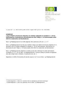 Natur- og Miljøklagenævnets afgørelse