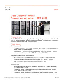 Cisco Cloud Index White paper