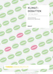 Klimatdebatten - ett miljöhot?