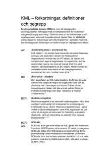 KML – förkortningar, definitioner och begrepp