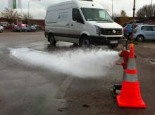 Årlig spolning av huvudvattenledningar i Landskrona