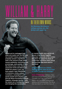 Embargo 18.04.17 - Full interview with The Duke of Cambridge and Prince Harry in CALMzine's Marathon Issue