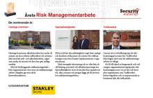 Finalister i Årets Riskmanagement-arbete