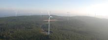 Mimer besöker sitt vindkraftverk