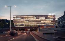 Gnistrande fasad på en av Stockholms mest synliga byggnader