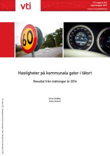 Hastigheter på kommunala gator i tätort 2016