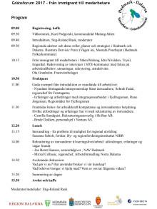 Program och deltagare