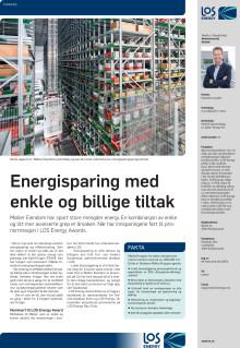 Presseklipp Agderposten november 2015: Energisparing med enkle og billige tiltak