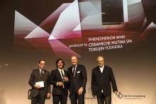 Phenomenon WIND - mosaik av Tokujin Yoshioka för Mutina prisbelönt i Köln