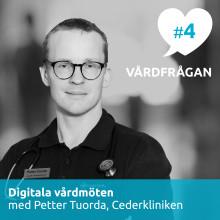 Nytt avsnitt av podden Vårdfrågan – digitala vårdmöten med Petter Tuorda på Cederkliniken i Piteå