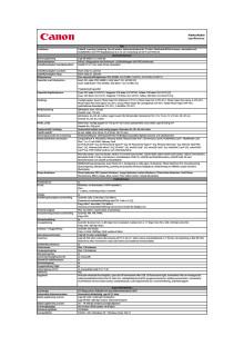 Teknisk specifikation PIXMA MX870