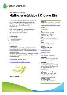 Inbjudan till konferens Hållbara måltider i Örebro län