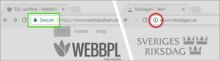 Google varnar för osäker webbplats