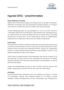 Hyundai IONIQ pressinformation