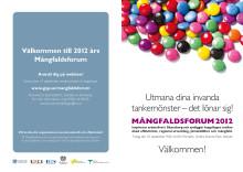 Program för Mångfaldsforum 2012