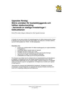 Uppsala kommun förslag inskickat till regeringens utredning