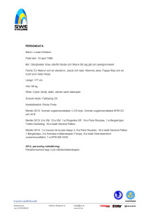 Persondata Lucas Eriksson, Falköpings CK
