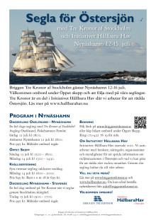Hållbara Hav och briggen Tre Kronor kommer till Nynäshamn 12-15 juli