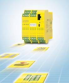 Ett konfigurerbart säkerhetsrelä för alla säkerhetsfunktioner