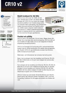 CR10 v2 3G router för NMT450