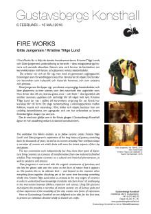Fire Works – Gitte Jungersen och Kristine Tillge Lund