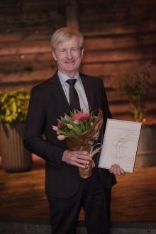 Carl Bennet, grundare av Carl Bennet AB, mottog utmärkelsen Årets Förebildsentreprenör på Entreprenörsgalan Väst