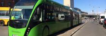 Nobina kör 24 meter lång BRT-buss till Köpenhamn