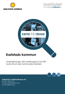 Rapport Kritik på teknik för Karlstads kommun