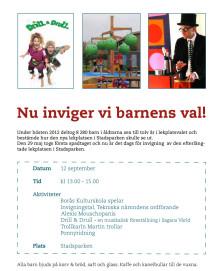 """Invigning av ny lekplats """"Barnens Val"""" med KOMPAN lekutrustning i Stadsparken i Borås!"""