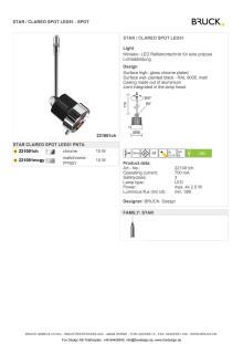 Produktblad Bruck Star Clareo LED51 som pdf.