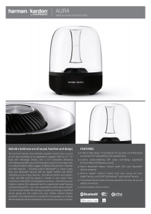 Specifikation Harman Kardon Aura