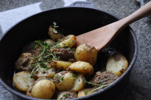 Månadens recept augusti - Potatis med tapenade