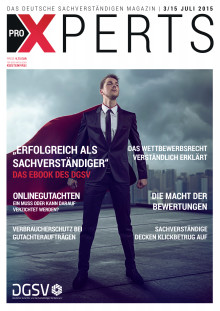 Die neue Ausgabe des Deutschen Gutachter und Sachverständiger Magazin erscheint am 15 Juli!