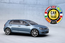 The new Volkswagen Golf is European Car of the Year 2013