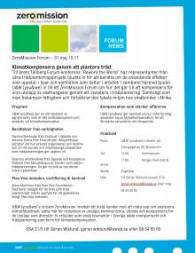 Inbjudan till ZeroMission Forum 31 maj 15-17