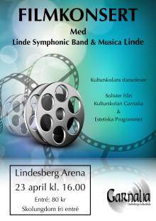 Linde Symphonic Band och Musica Linde ger filmkonsert
