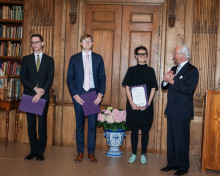 Bernadottestipendiater fick diplom av Kungen