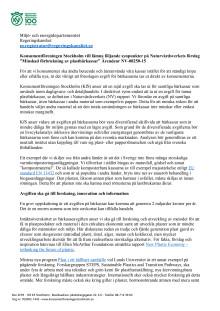 Remissvar på Naturvårdsverkets förslag kring avgift på plastkassar (16 sep 2016)   Dokument