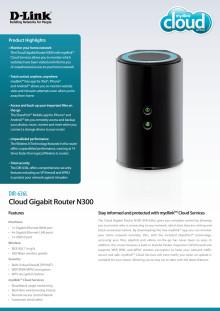 Produktblad, Cloud Gigabit Router N300 (DIR-636L)