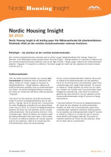 Nordic Housing Insight: Ränteläget – stor påverkan på den nordiska bostadsmarknaden