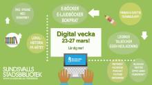 Get online week i Sundsvalls stadsbibliotek 23-27 mars