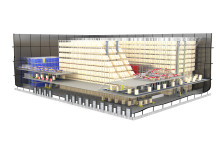 Nyt distributionscenter med manuelle og automatiske processer i fordelagtig forening