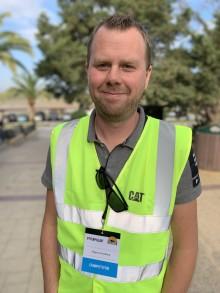 Magnus Rundberg ligger bra till efter andra dagen i Caterpillar Operator Challenge