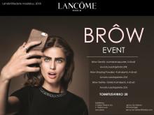 Lehdistötiedote Lancôme Brôw Event maaliskuu