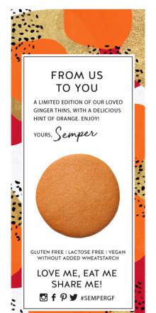 Limited Edition kommer till den glutenfria kategorin - Pepparkakor Apelsin!