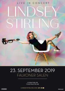 Megatalentet, Lindsey Stirling, bringer sin storslåede elektroniske violinmusik til Falkoner Salen 23. september