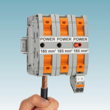 Stærkstrømsklemmer med Power-Turn tilslutning
