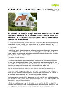 Den nya tidens verandor - intervju med arkitekten Anders Lundin
